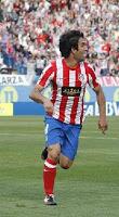 Turan celebrando el primero de sus goles al Espanyol