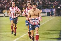 Pantic celebra su gol en la final de Copa del 96