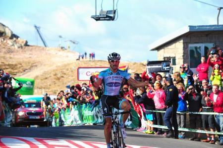 Dario Cataldo en la meta del Cuitunigru