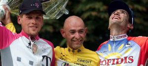 Ullrich, Pantani y Jullich en el Tour 98