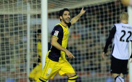 Raúl García anotó el gol colchonero