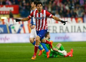 Diego Costa celebra su gol 30 de esta temporada