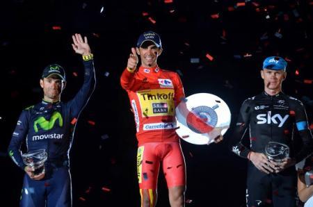 Contador, Froome y Valverde en el podio de la Vuelta 2014