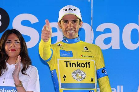 Contador celebra su victoria en País Vasco