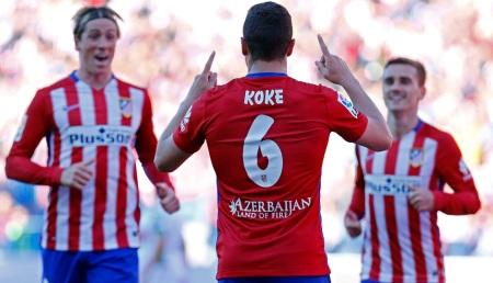 Koke inauguró el marcador frente al Granada