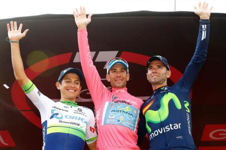 Chaves, Nibali y Valverde en el podio del Giro 2016