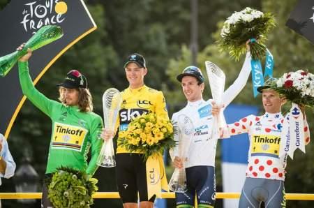 Sagan, Froome, Yates y Majka en el podio del Tour 2016