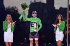 Fabio Felline con el maillot verde